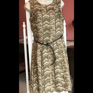 Michael Kors Safari Green & cream Dress